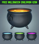 Free Halloween Cauldron Icon 3D