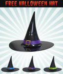 Free 3D Halloween Hat Icon