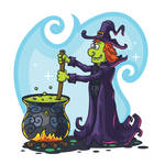 Free Vector Witch by pixaroma