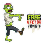 Free Vector Zombie by pixaroma