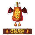 Free Flying Pumpkin Icon