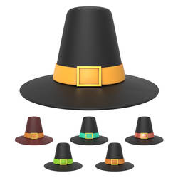 Free 3D thanksgiving hat by pixaroma