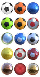 Free 3D soccer - football balls by pixaroma