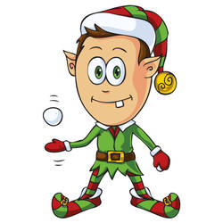 Free Christmas Elf Character by pixaroma