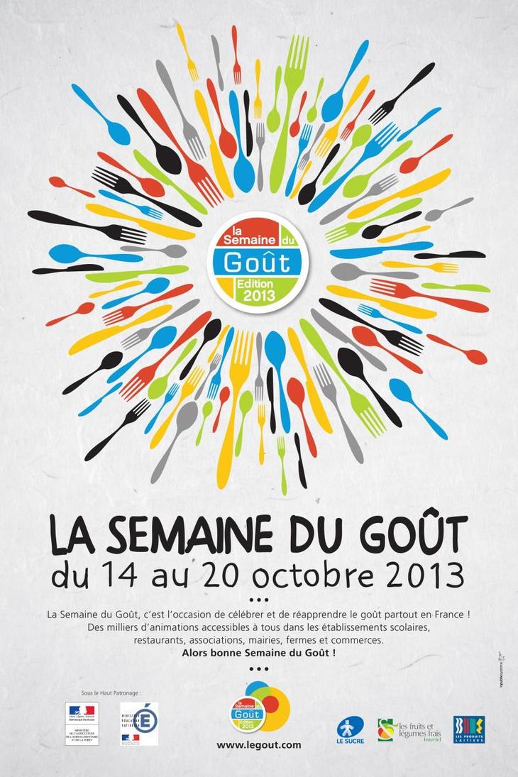 affiche pour la semaine du goût 2013 - www.legout.com