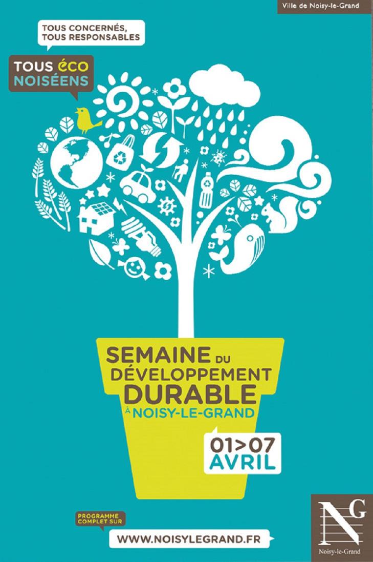 composition d'une affiche pour une semaine du développement durable, graphisme www.grapheine.com, 2010