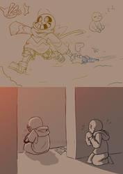 .: Patreon Doodle Request - US!Skelebro Kids :.