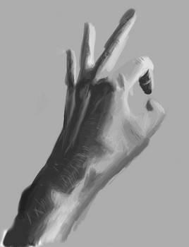 Grayscale Hand
