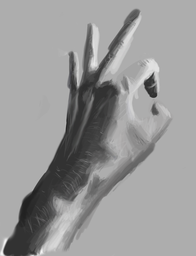 Grayscale Hand by Geobion