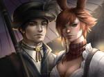 FFXIV Commission: Hyur and Viera