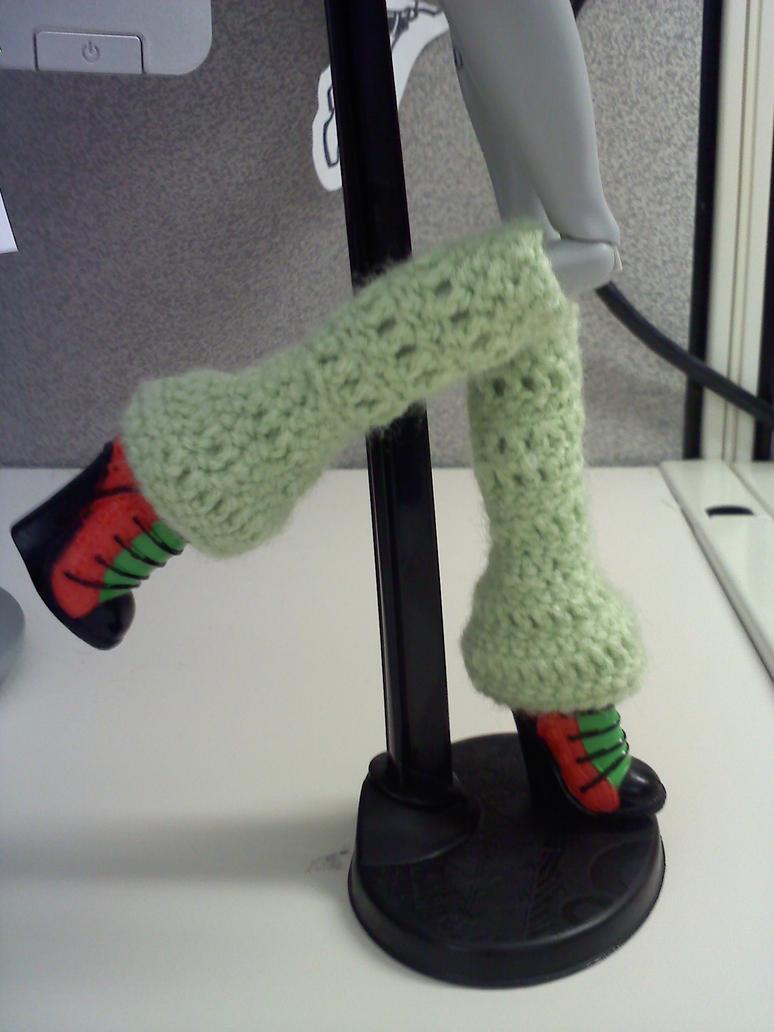Monster High - Green Legwarmers by XantheStar