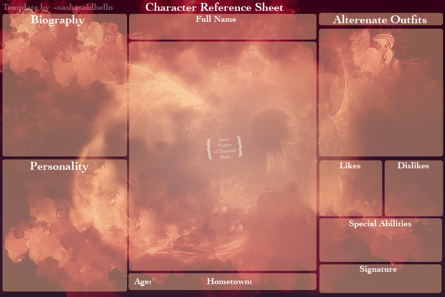 Blank Character Reference Sheet : Fantasy By Sashasaidhello ...  Blank Reference Sheet