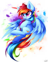 Rainbow Dash [UPDATE] by Kaleido-Art