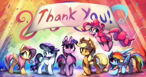 My Little Pony - Thank You! by Kaleido-Art