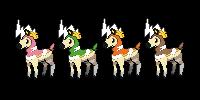Deerling/Blitzle Fusion by LaurynRose12