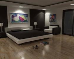bedroom at night by jimaxjimax