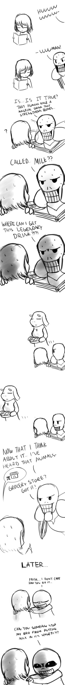 Papyrus discovers milk by mapleck