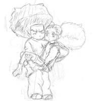 sketch huey and jazmine by HueyWuzHere