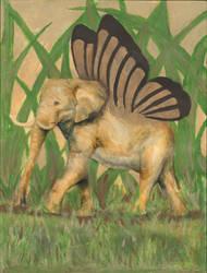 elephant wings by kyramariesmith