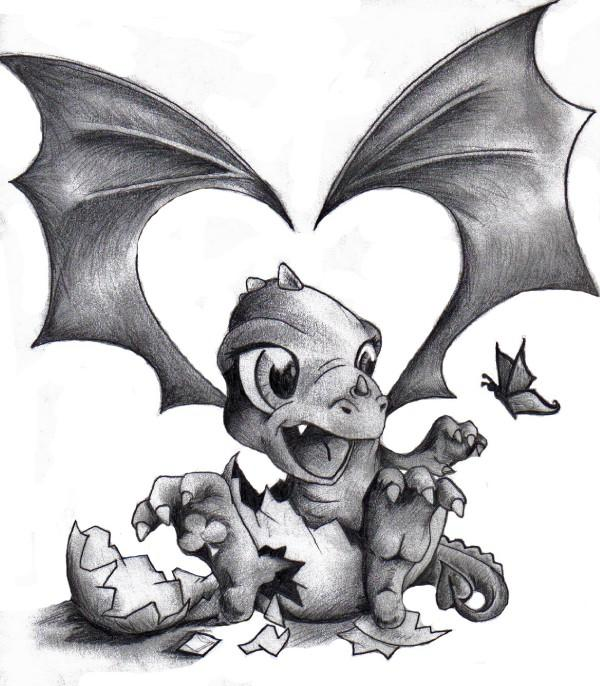 Baby Dragon Tattoo Pt. 1 by ~AcidUnicorn on deviantART