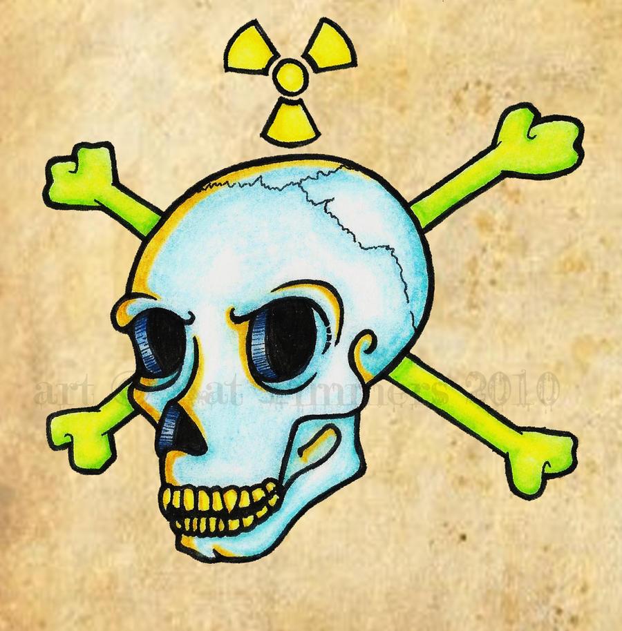 radioactive skull tatt design by acidunicorn on deviantart