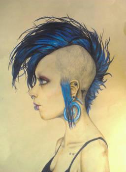 Work in Progress--Blue Hair