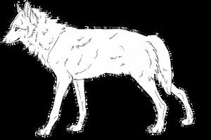 Free Wolf lineart by Kezzai