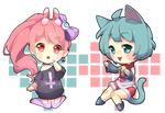 Chibi commissions for MonstroDesigns