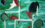 Koi pond by 71-Blackbird