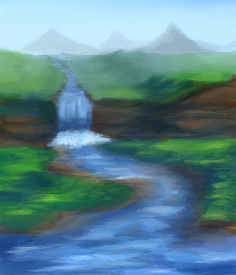 Waterfall by Unclemanladything