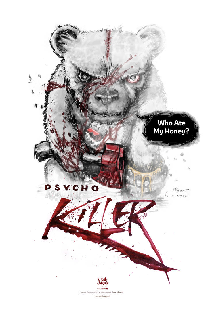 Psycho Killer Bear by PeGGO