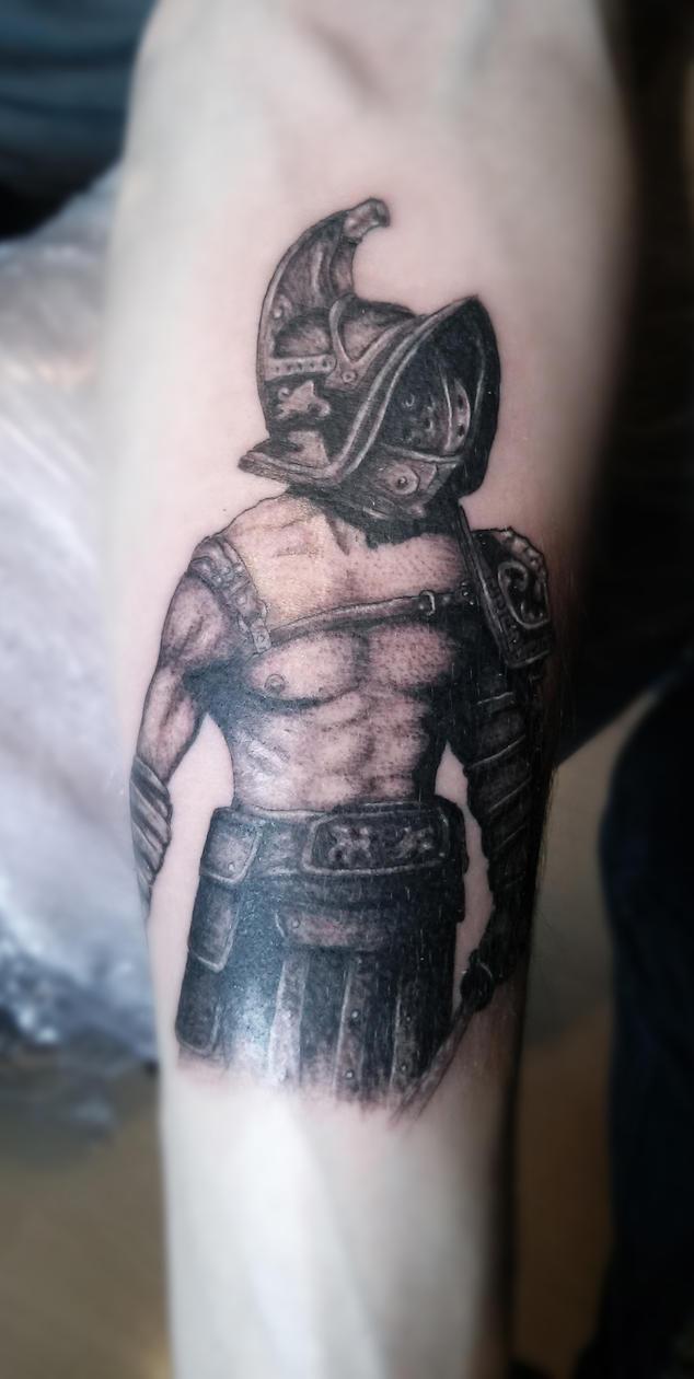 Gladiator Tattoo Spqr: Gladiator Tattoo By AkiTheAlien On DeviantArt