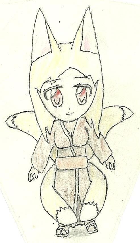 four-tails fox girl by JofDragon