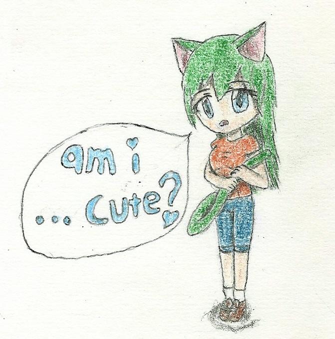 chibi cat-girl by JofDragon
