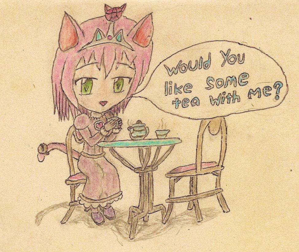 chibi princess catgirl by JofDragon