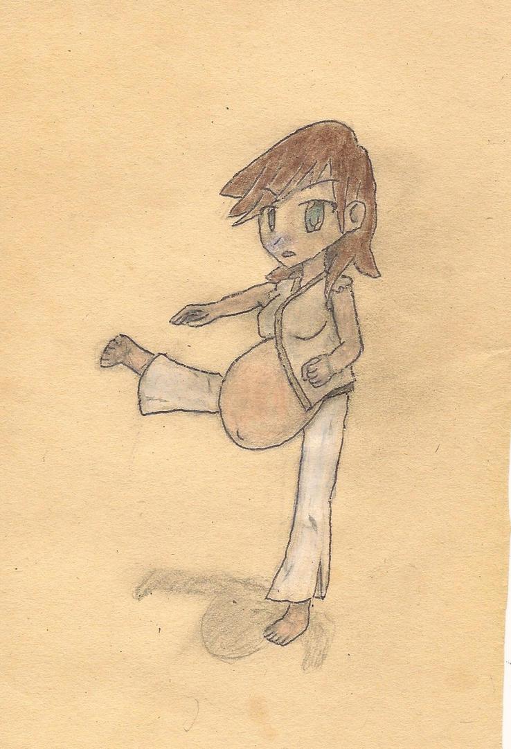 pregnant girl K by JofDragon