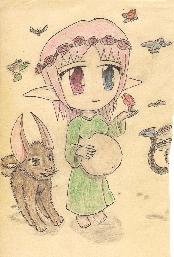 pregnant chibi elf by JofDragon