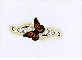 Butterfly Tattoo design by MadAssBabs