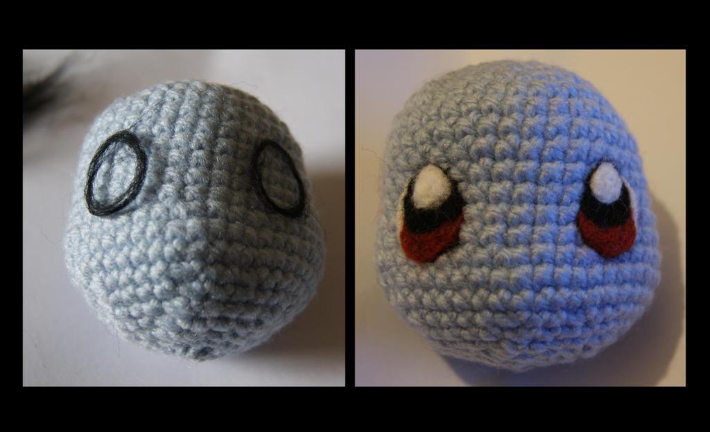 Amigurumi Eyes Pattern : Squirtle amigurumi needle felt eyes wip by itsabumbledee on deviantart