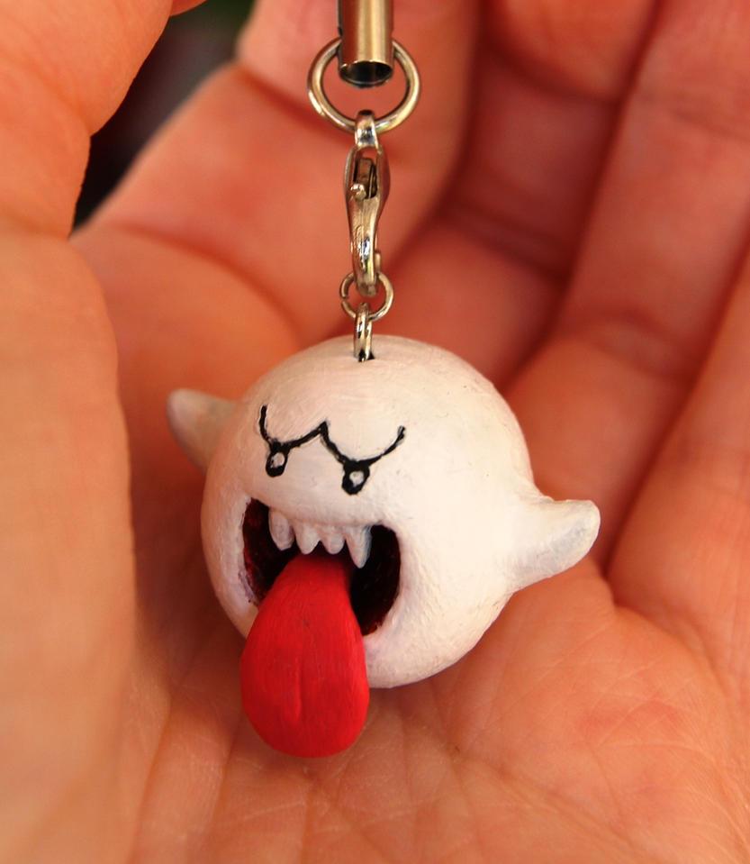 Boo! Polymer Clay Charm by DeeDeeODooDoo
