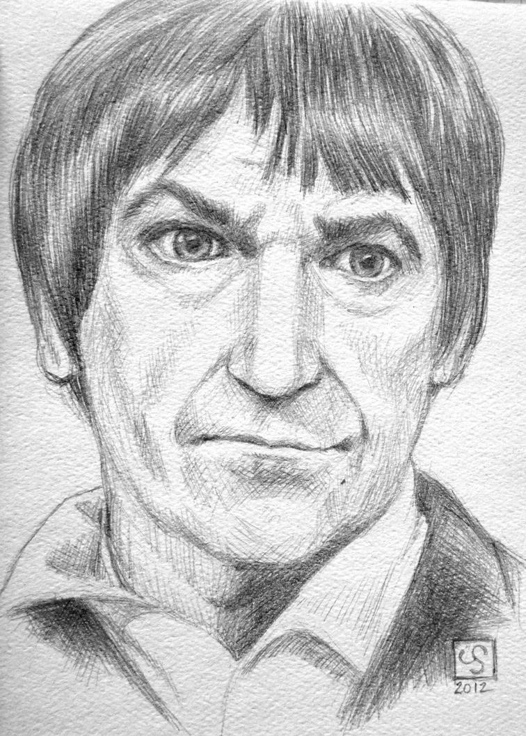 Patrick Troughton pencil sketch by The-Tinidril