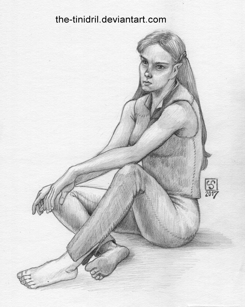 Disgruntled Elf - 18-DrawEverythingJune2 by The-Tinidril