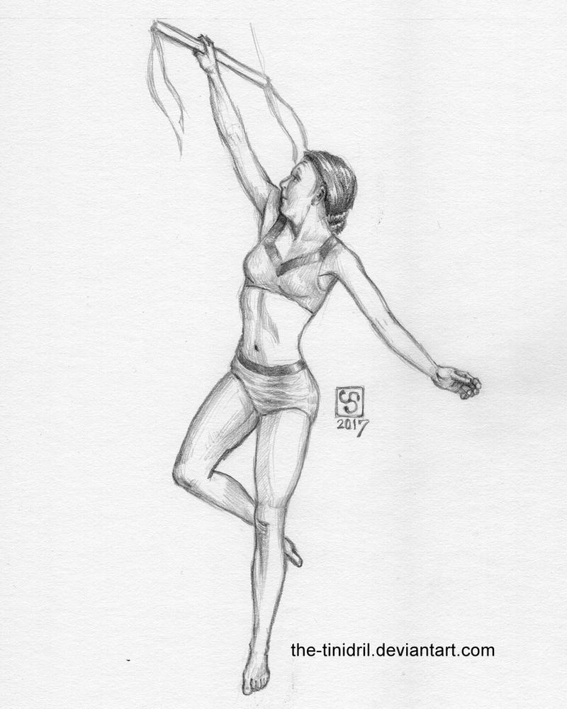 Trapeze Flier - 19-DrawEverythingJune2 by The-Tinidril