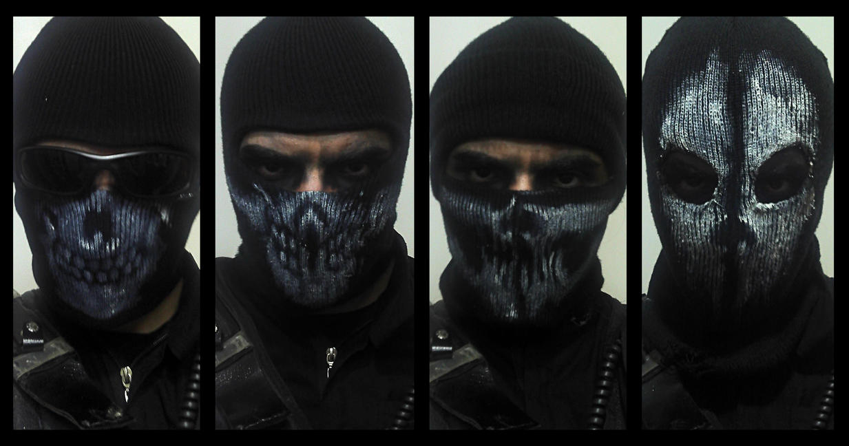 Call Of Duty Ghosts Masks - klejonka