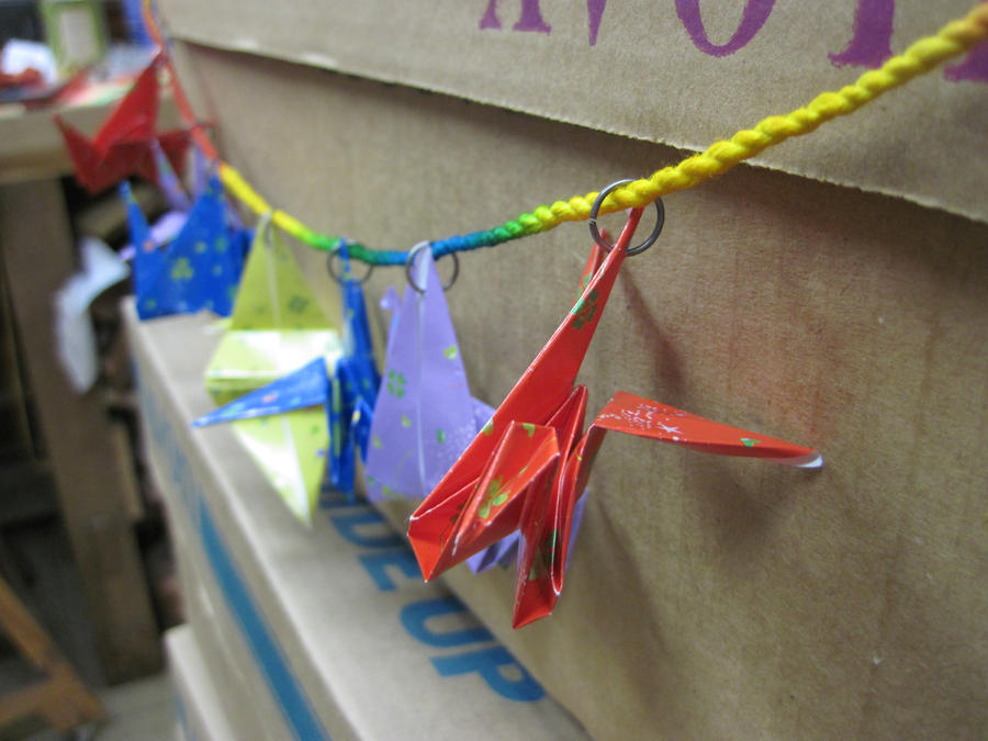 paper crane chain banner2 by MagicalMegumi
