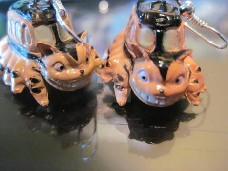 catbus earrings
