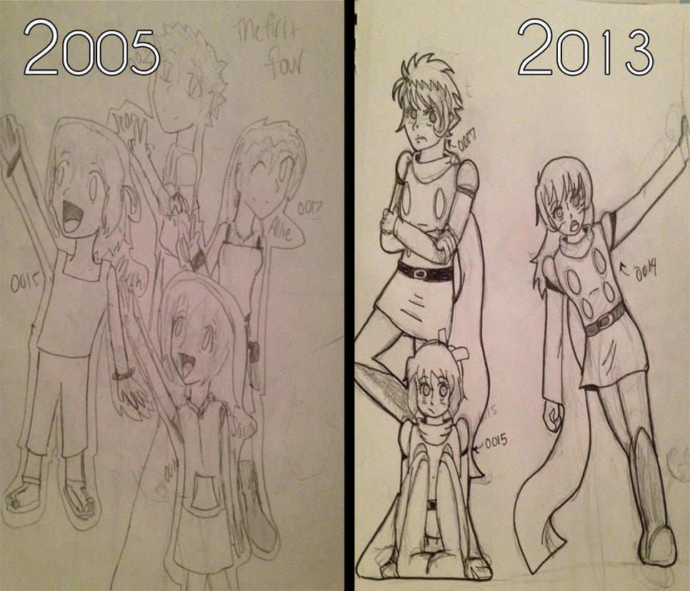 Drawing Skills Then and Now- Cyborg 009 Oc's by LenLe92 on DeviantArt