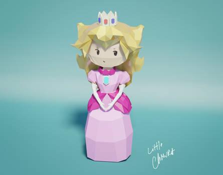 low poly princess peach