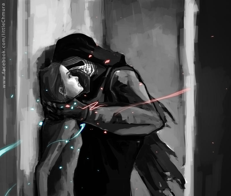 Star Wars: Kylo Ren and Rey III by LittleChmura