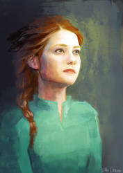 Ginny Weasley with feathers